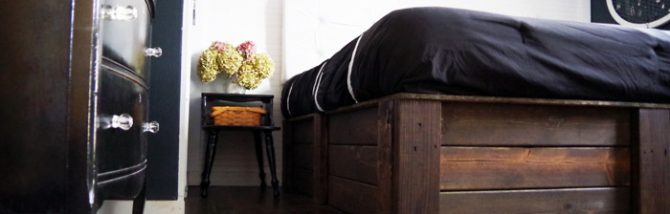 Tutorial how to build your own platform bed using 2x6s. Easy, Workshop, DIY.