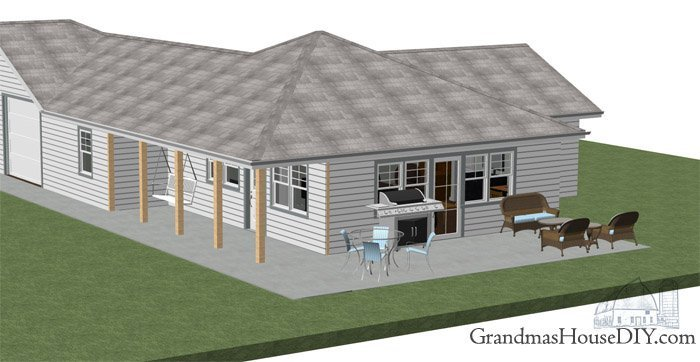 A dream small cottage design for a retired couple or child free couple, free floor plan, free home design, free house plan, one story