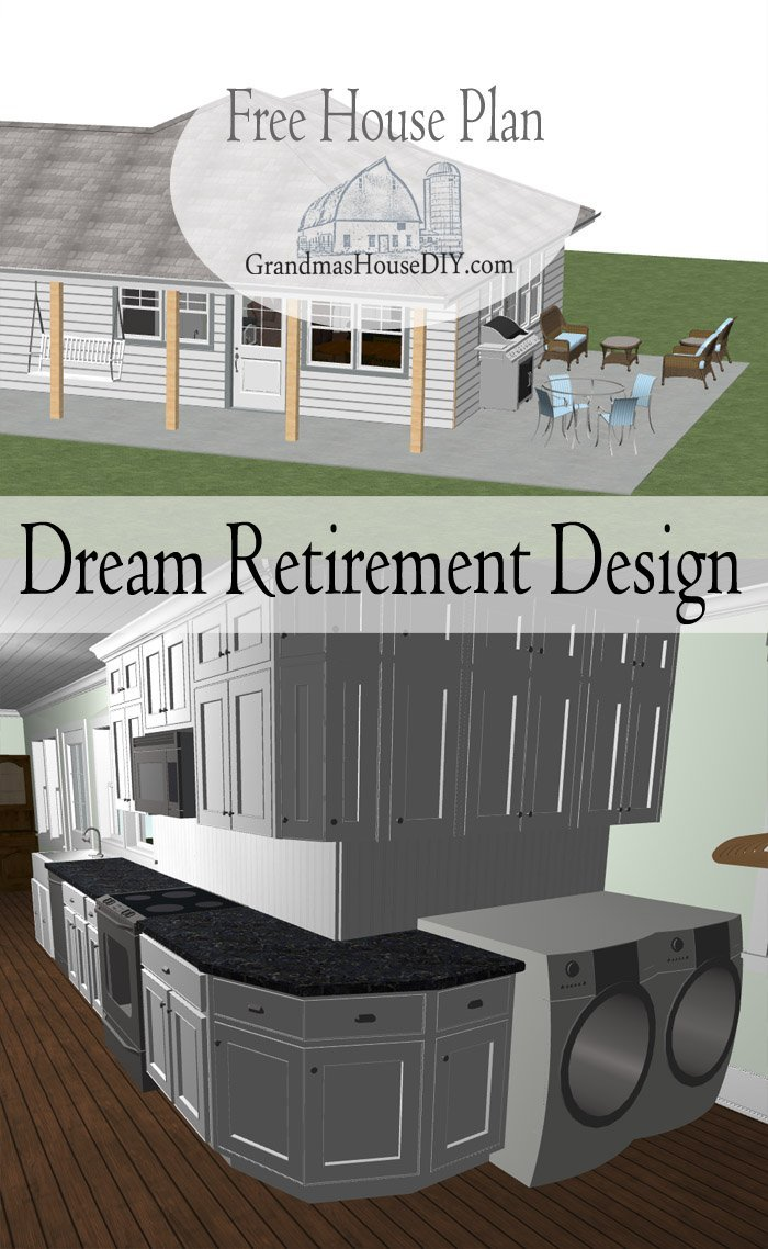 A Dream Small Cottage Design For A Retired Couple Or Child Free Couple,  Free Floor Part 44