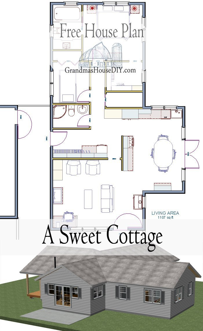 Free House Plan A Sweet Little Cottage That Smartly