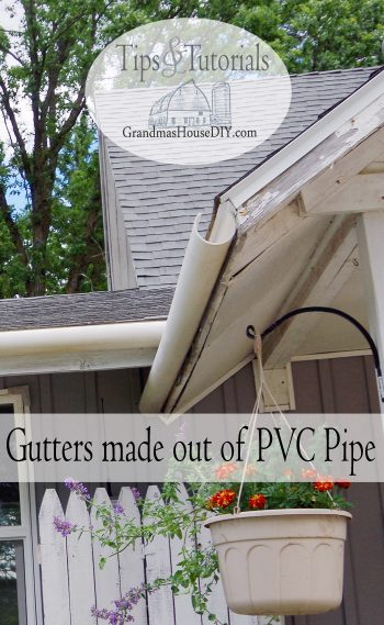 Pvc rain gutters diy out of a 3 pvc pipe cut in half with a table pvc rain gutters diy out of a 3 pvc pipe cut in half with a table saw and then screwed to the eve using steel hex nut screws how to solutioingenieria Image collections