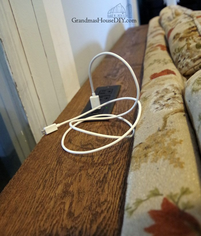 Console Table Charging Station For Behind Our Sofa Diy