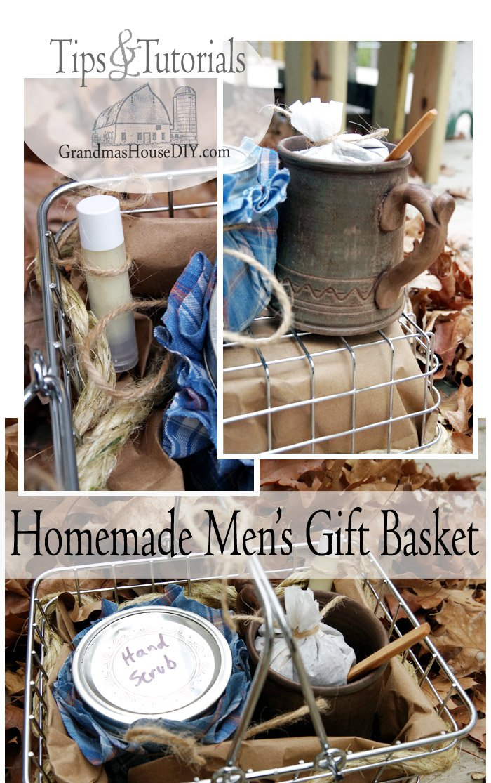 Christmas (or any occasion!) homemade men's gift basket, do it yourself present for the guys in your life, easy, homemade recipes that are sure to please!