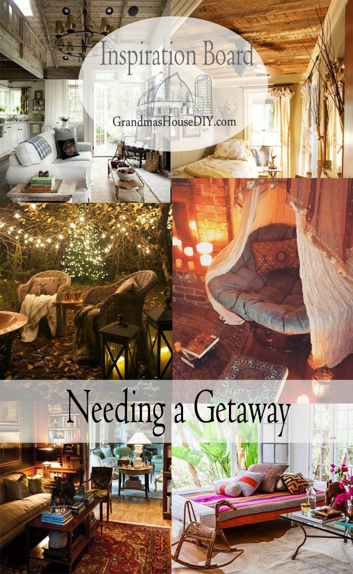 Nooks, crannies, special getaway places, some of my favorite escapes via Pinterest Inspiration board, come sneak away with me!