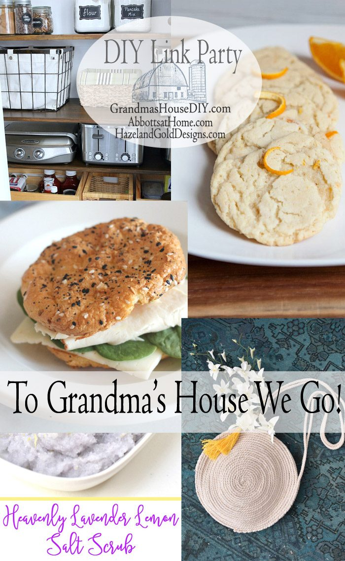 This link party is all about homemade, homemaking, DIY, recycling, upcycling, before and afters (of rooms, furniture, whatever), build projects, vintage. Hosted by Tarah at Grandma's House DIY, Stephanie at Abbott's At Home and Sheri at Hazel and Gold Designs