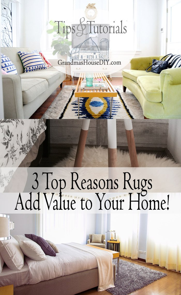 Top 3 reasons that rugs add value to your home by Rug Mountain. Whether their shaggy, simple or bright rugs create a cozy wonderful addition.