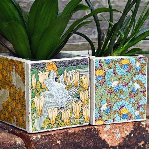 HOW TO MAKE DIY TILE COASTERS AND TILE PLANTERS