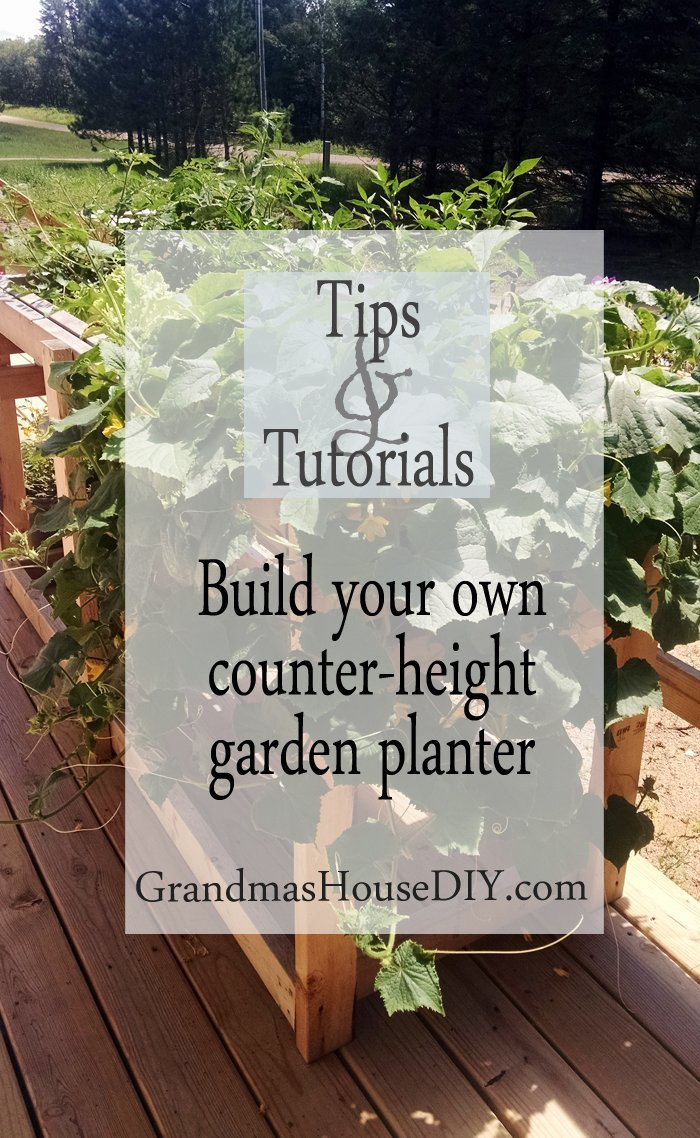 Build your own how to wood working diy do it yourself counter-height garden planter for easy planting and weeding all summer long