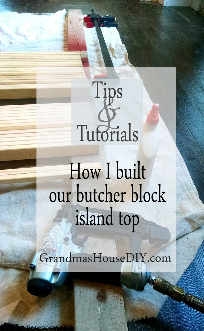 How to word working tutorial build your own butcher block counter top for our radio stand converted transformed before and after into a red kitchen island on castors, do it yourself, diy