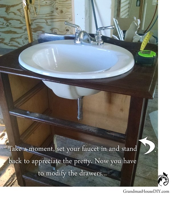 How To Convert A Dresser Into A Bathroom Vanity For A