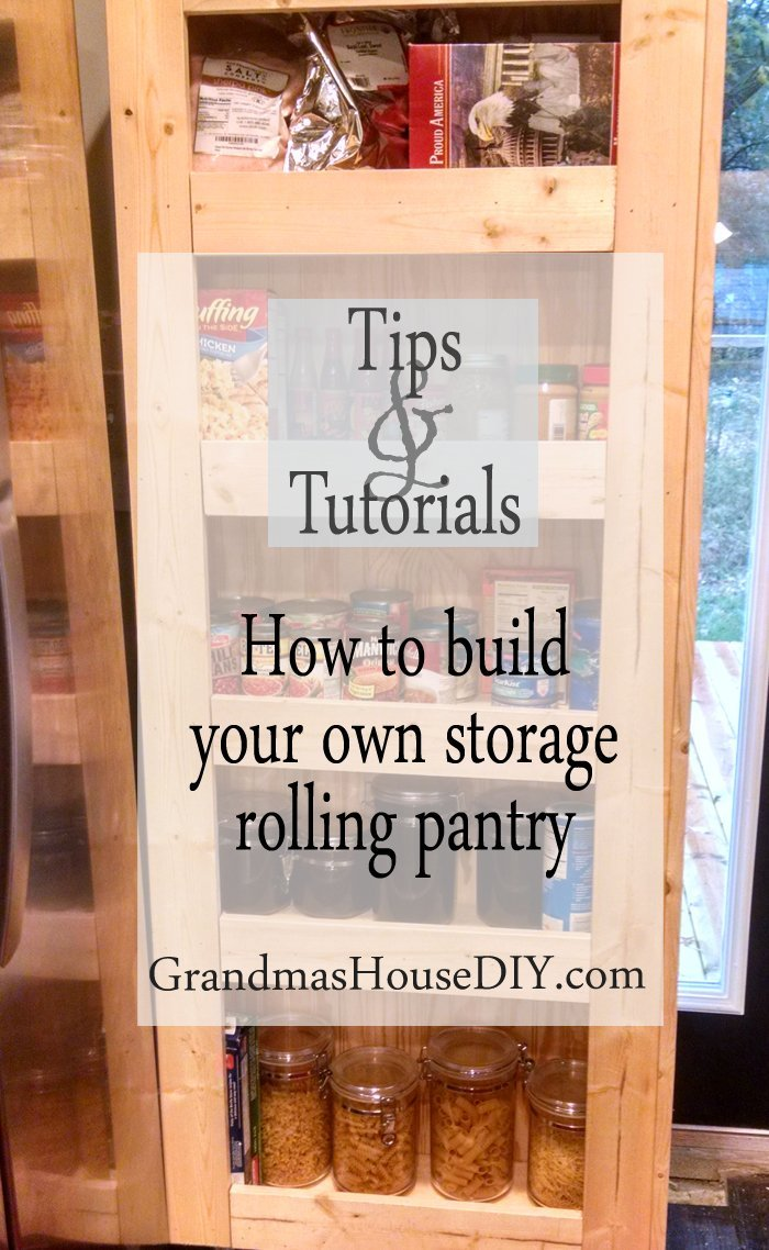 How to build your own rolling pantry, wood working, diy, do it yourself, kitchen, storage hidden storage, tutorial