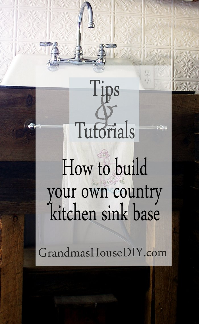 How to tutorial wood working build your own country kitchen sink base diy do it yourself