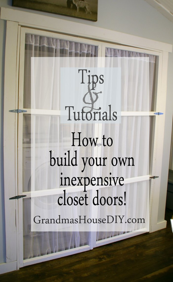 How to build your own inexpensive closet doors wood working diy do it yourself sheer curtain fabric simple easy tutorial cheap frugal