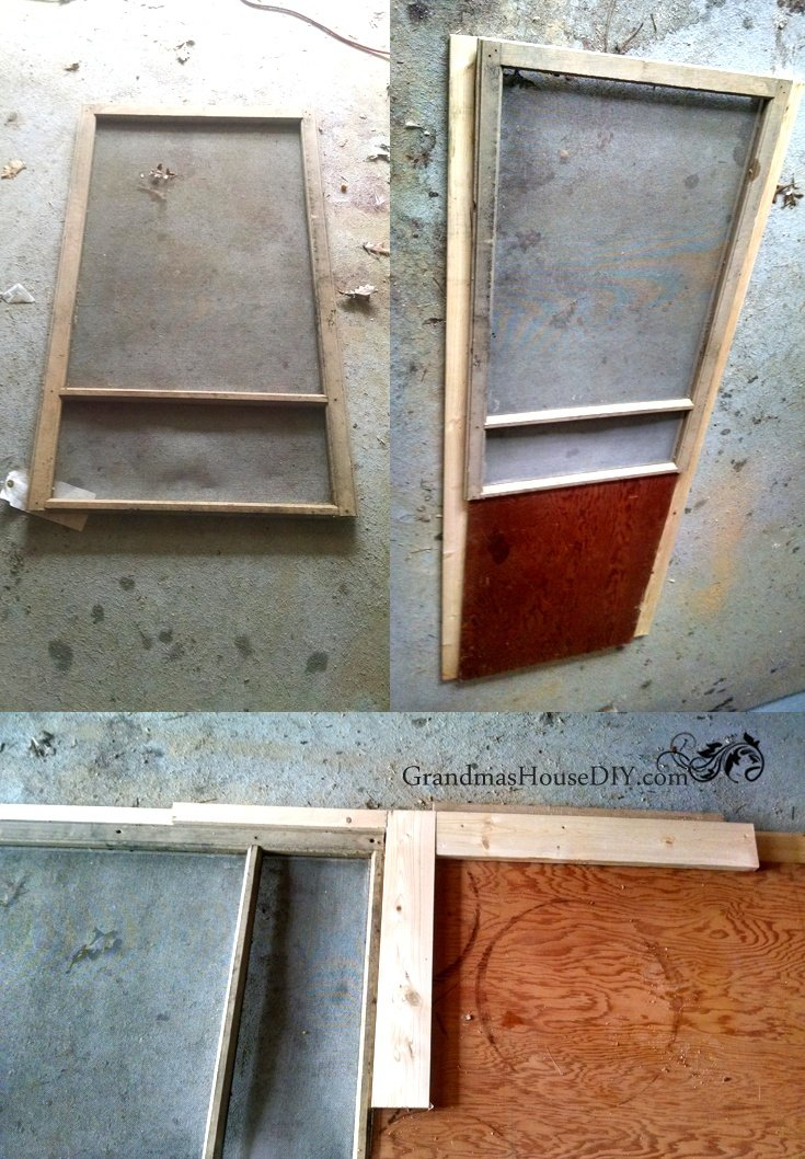 How To Build A Red Screen Door Out Of An Old Window Tutorial