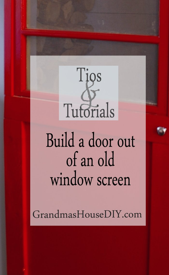 Tutorial how to build a red interior door out of an old window screen diy do it yourself wood working