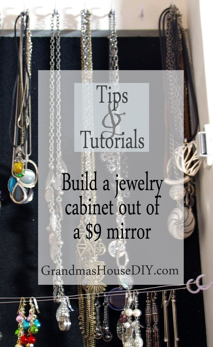 How to tutorial build a jewelry cabinet out a cheap mirror, craft, wood working, diy, do it yourself, tutorial