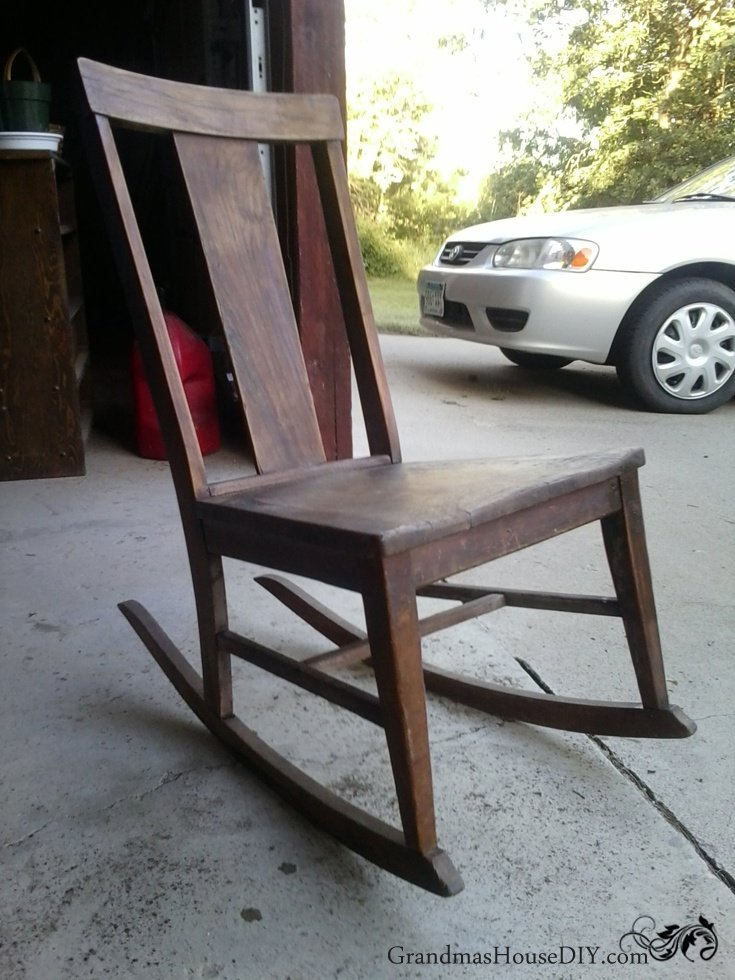 Two rocking chairs sanded down and refinished diy