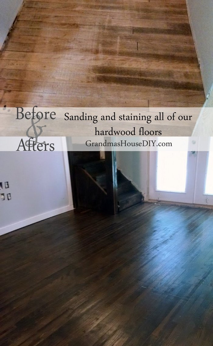 Do it yourself sand, stain and seal hardwood floors