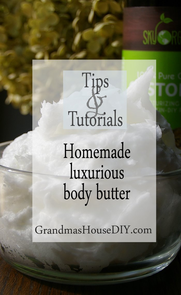 Homemade tutorial of to die for body butter luxurious caster oil lavender essential oils organic coconut