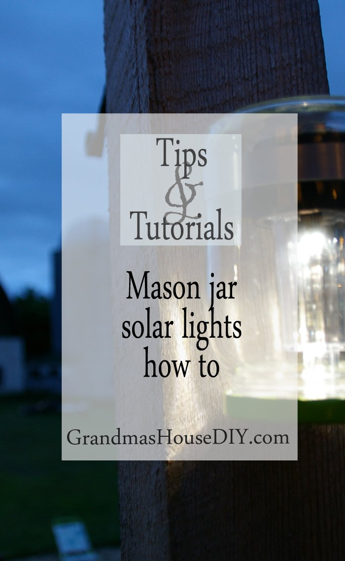 mason jar solar lights water proof wet rain how to tutorial easy cheap inexpensive frugal diy do it yourself backyard outdoor deck