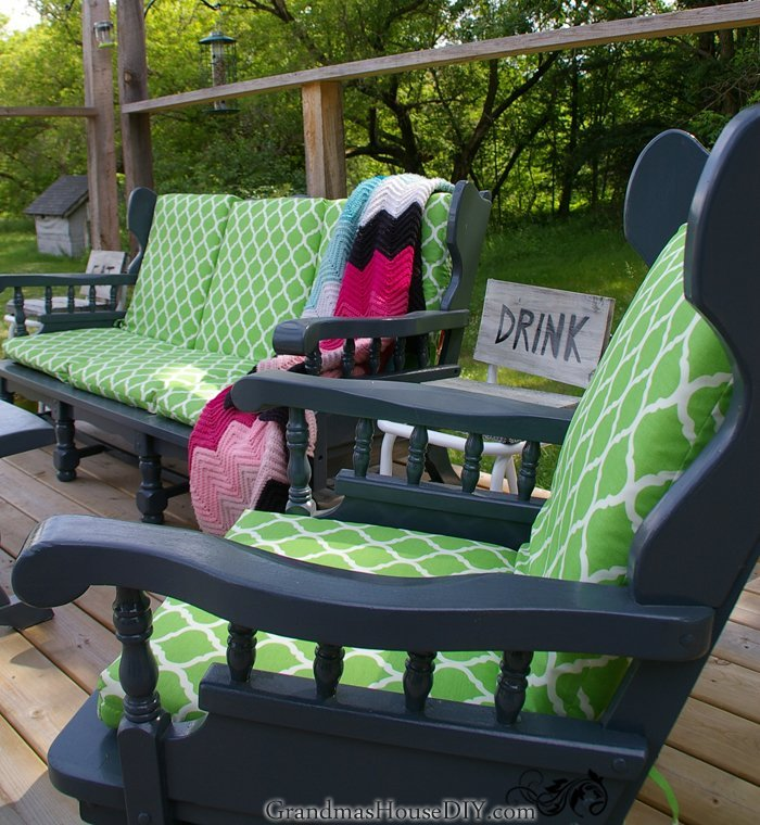 Indoor To Outdoor Furniture I Painted, What Do You Paint Wooden Garden Furniture With