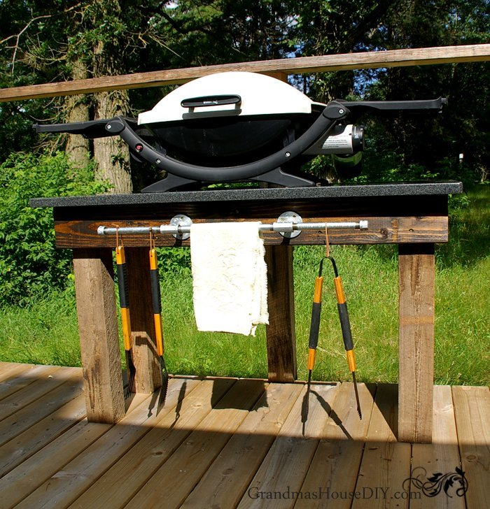 30 Outdoor Kitchens And Grilling Stations: How To Build An Outdoor Grill Station DIY Wood Working
