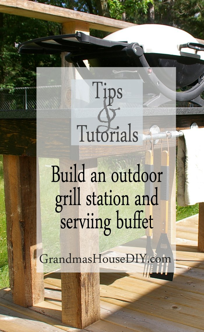 how to wood working tutorial an outdoor grill station and deck tutorial diy do it yourself outside entertaining