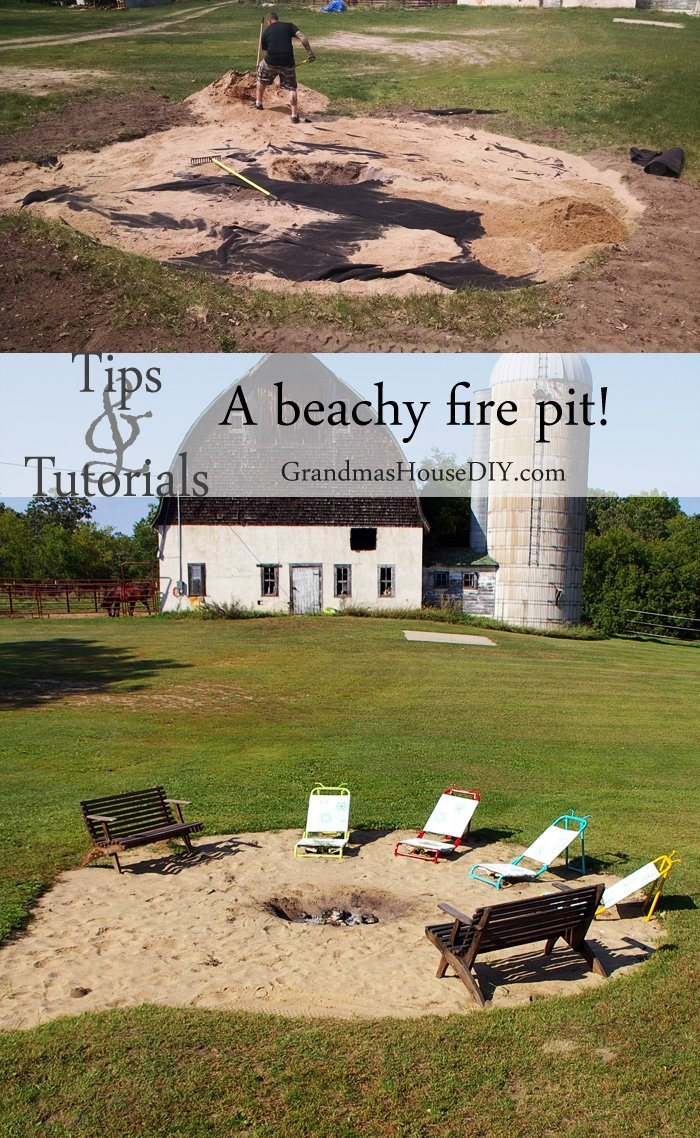 Tutorial on how to create a do it yourself diy low maintenance beachy backyard fire pit in just one day, safe bonfire, outdoors, outdoor