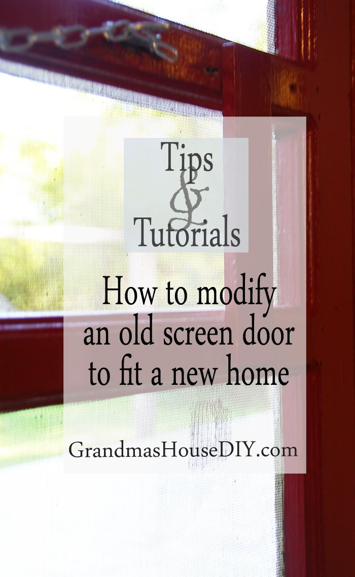 how to wood working modify an old screen door to fit a new house home country red diy do it yourself