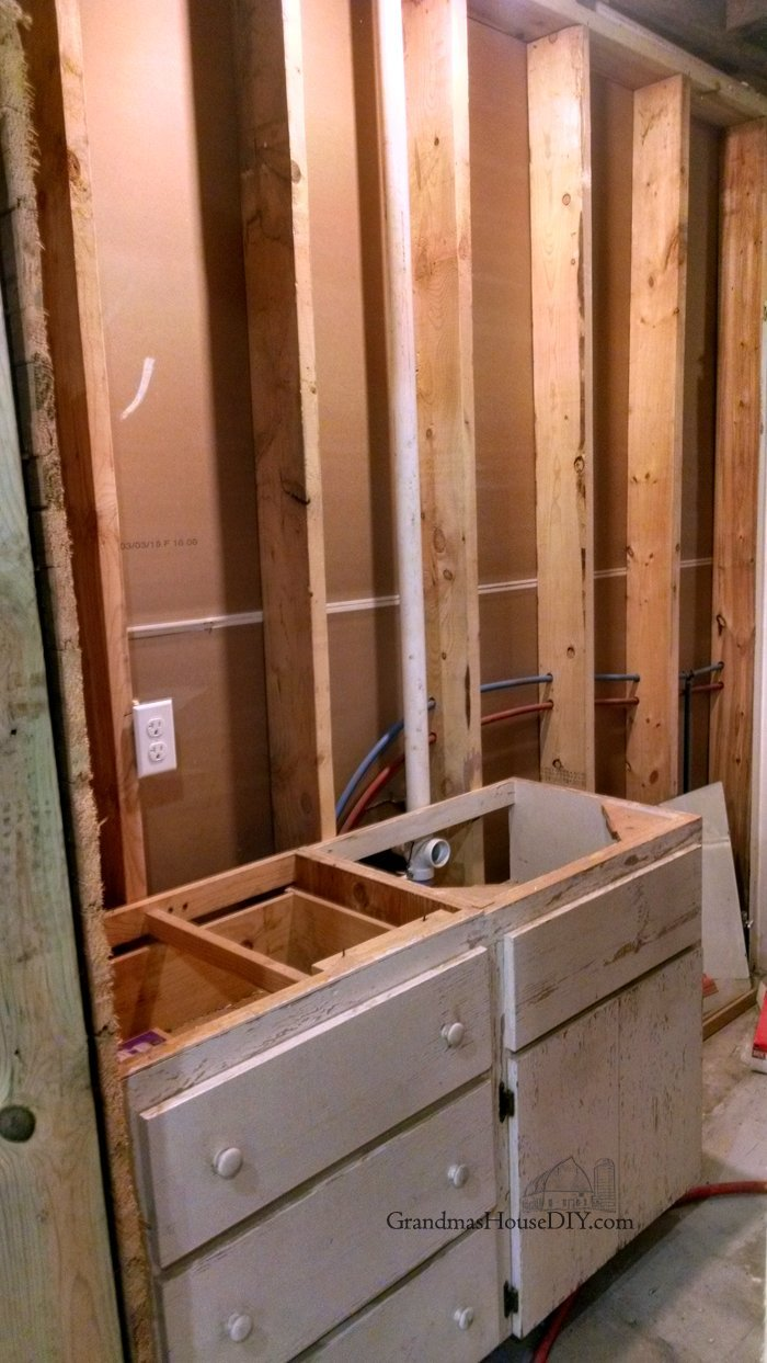 Covering Walls With Pallet Wood The Basement Bathroom