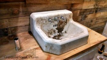 November in northern Minnesota and two sinks installed in the basement