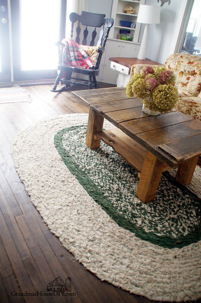 How to diy braid your own large homemade area rug for our farmhouse living room