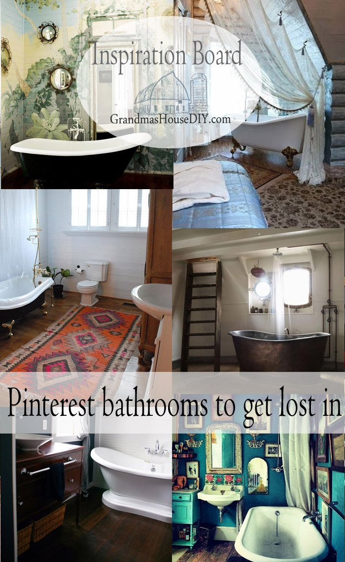 Stunning bathroom inspiration via pinterest, tubs to got lost in, bathrooms that will make your heart soar, that you want to stay in all day