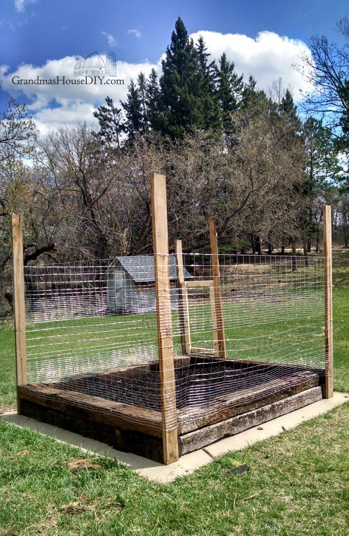 A new vegetable  made of railroad ties and how I made the gate and put a fence around it. Balancing the choice of toxic railroad ties for a .