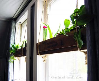 How to build wood working DIY do it yourself hanging flower and planter boxes for your windows or anywhere with sisal rope