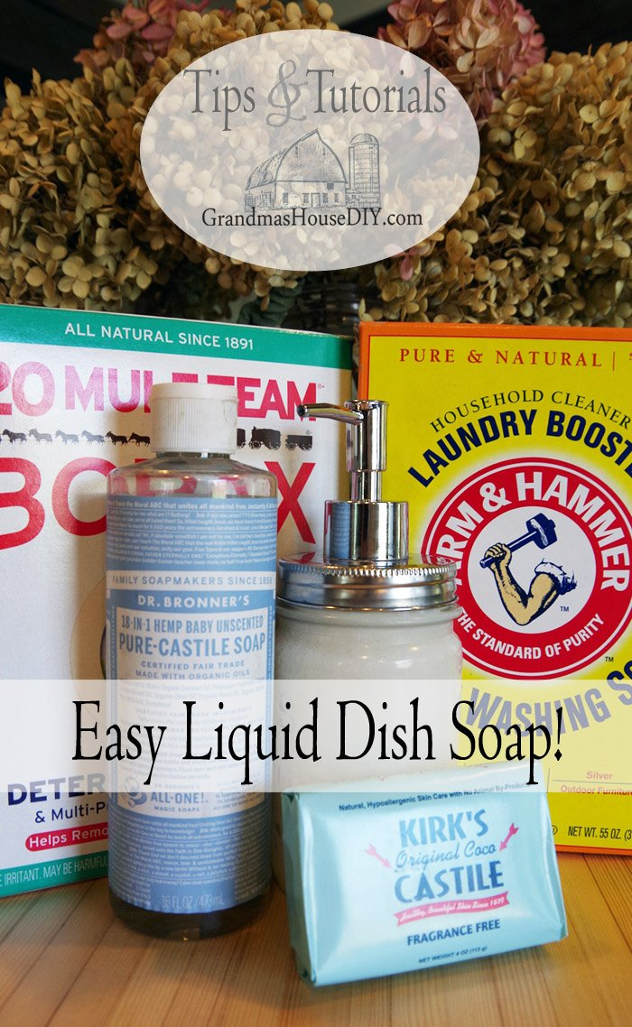 Homemade, essential oils, hypo-allergenic liquid dish soap recipe, green recipes, natural, diy, do it yourself, very easy to make