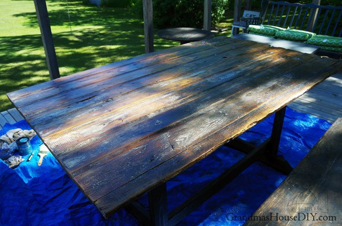 Barn Door Table Simple Wood Working Base For Our Deck