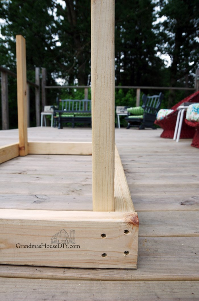 Barn door table, simple wood working base for our deck!