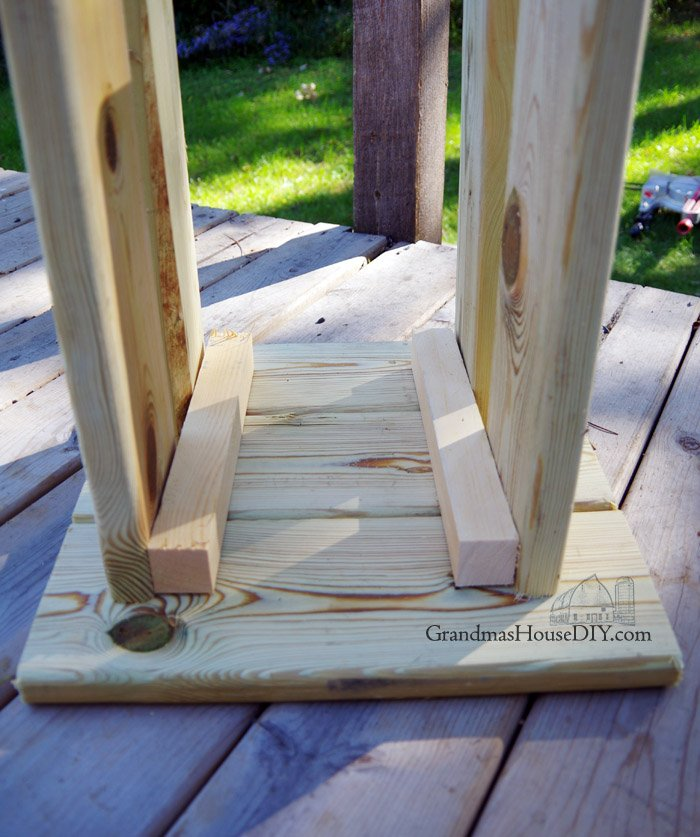 Outdoor Stool Simple Modern Wood Working Project For Our
