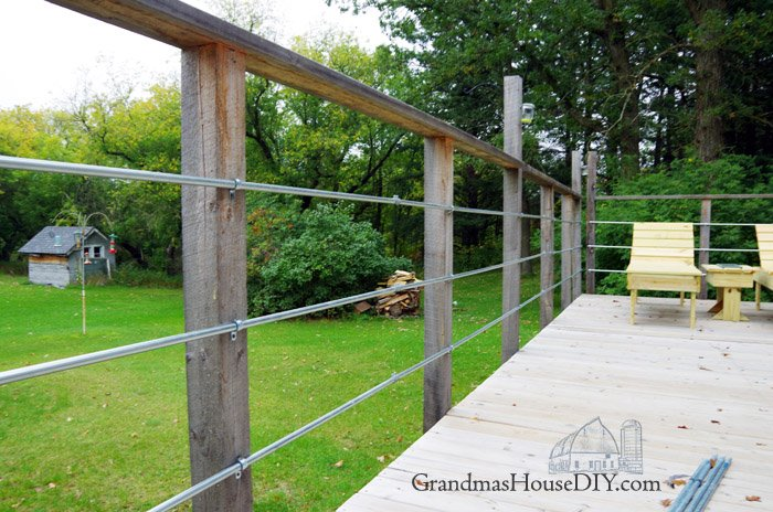 diy inexpensive deck rails out of steel conduit easy to do. Black Bedroom Furniture Sets. Home Design Ideas