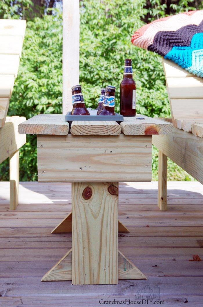 Diy Outdoor End Table Storage