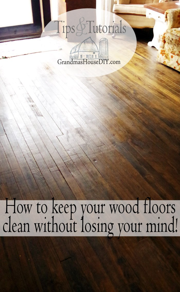 How to clean hardwood floors without