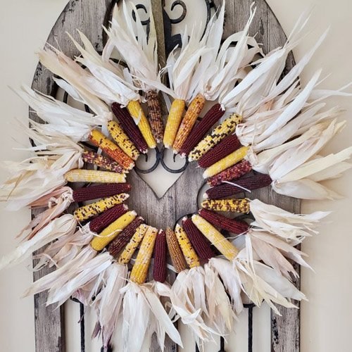 HOW TO MAKE AN INDIAN CORN WREATH