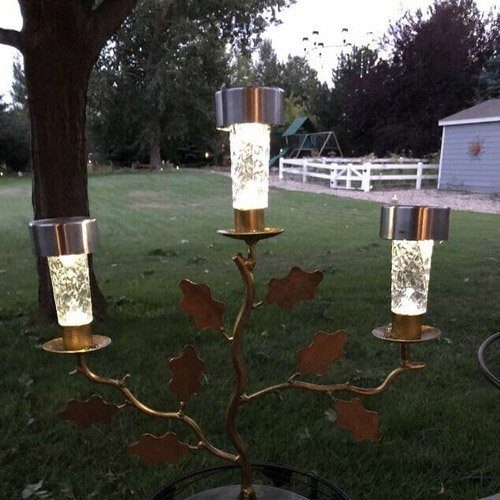 DIY Candle Holder Solar Light Decor