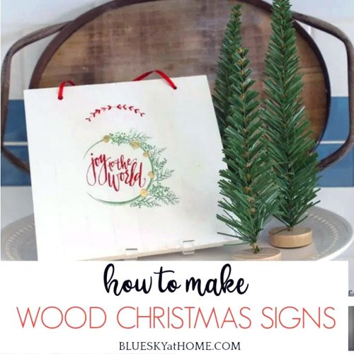 How to Make Wood Christmas Signs
