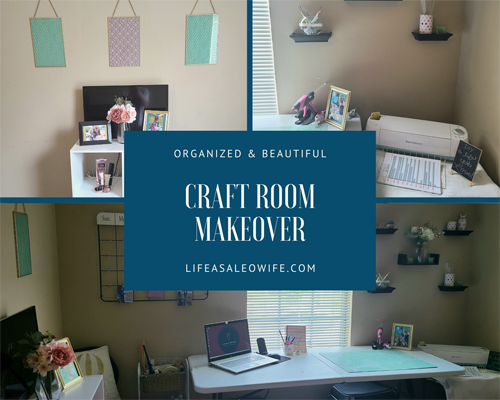 Niki from Life as a LEO Wife - Craft Room Makeover