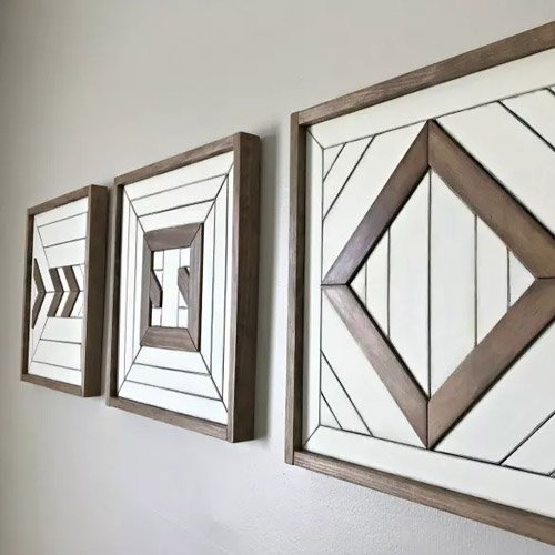 Simple Scrap Wood Wall Art – How to Build and Paint