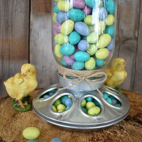 DIY Farmhouse Chick Feeder Candy Dispenser