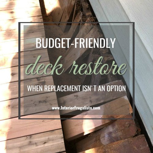 How To Restore A Wood Deck Instead Of Replacement