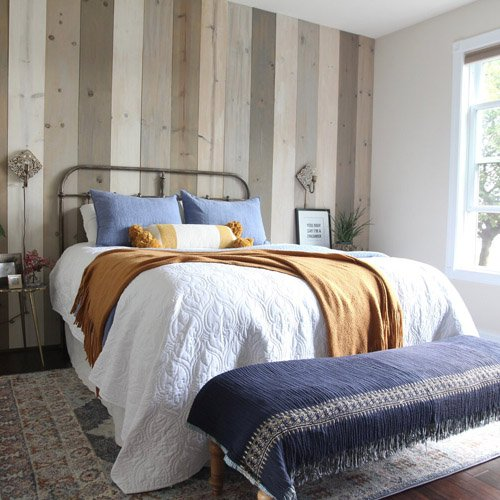 Warming up the master bedroom for Fall